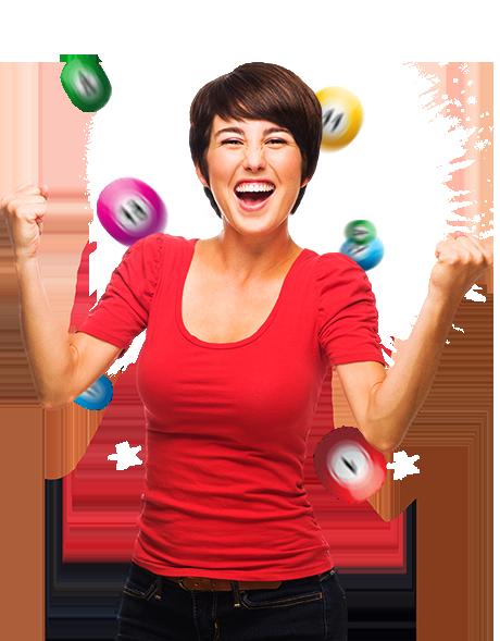 kvinna-spelar-bingo-på-nätet